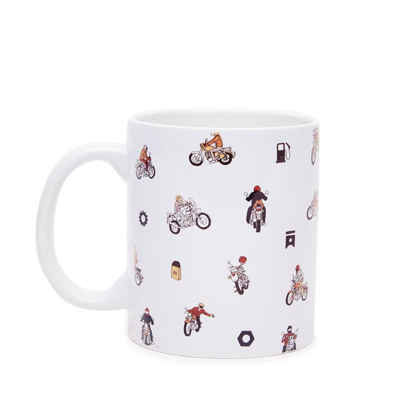 Royal Enfield Moto AOP Coffee Mug White