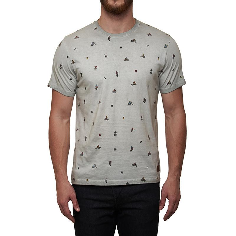 Royal Enfield Moto AOP T-Shirt Light Grey