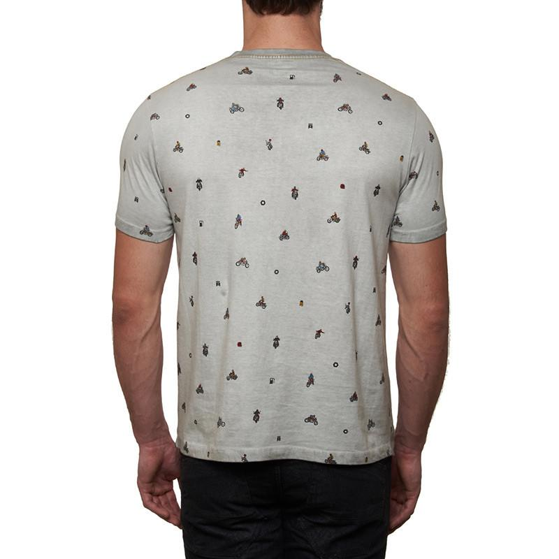 Moto Aop T-Shirt Light Grey