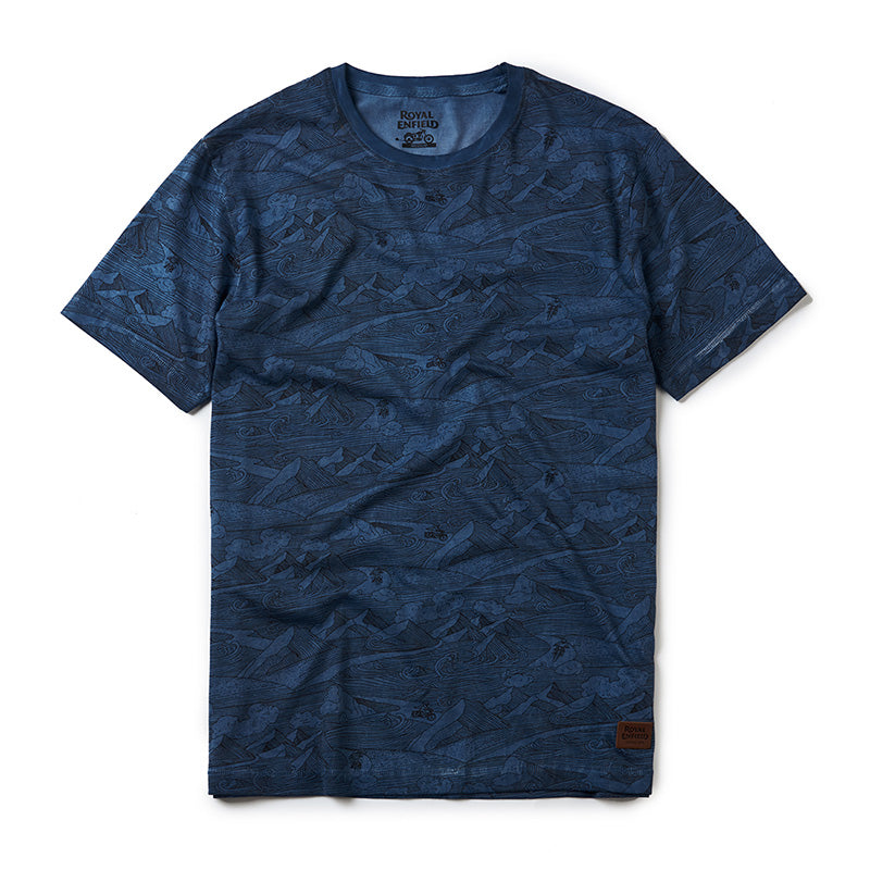 Mountainwaves T-Shirt Midnight Blue