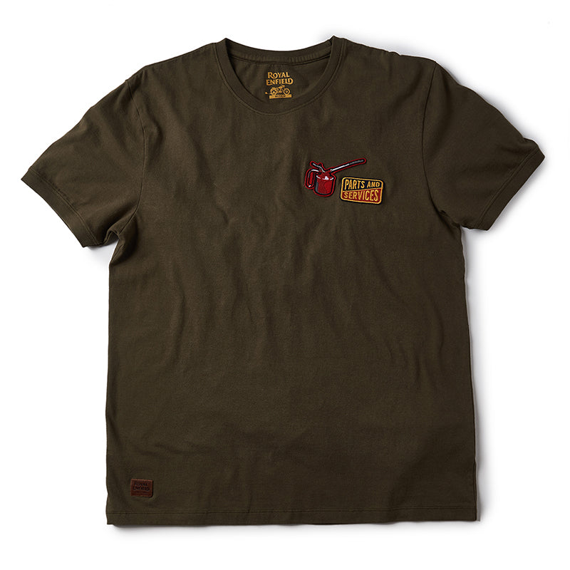 Parts And Services T-Shirt Olive Green