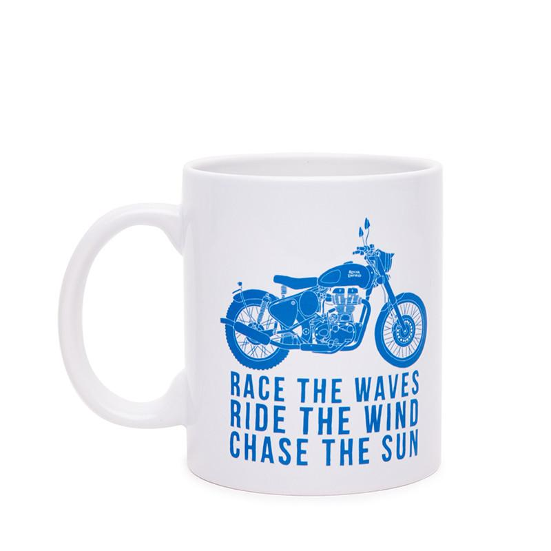Royal Enfield Race The Waves Coffee Mug White