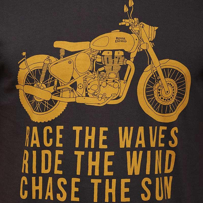 Royal Enfield Race The Waves T-Shirt Charcoal Grey