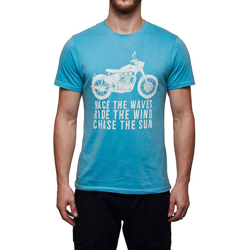 Royal Enfield Race The Waves T-Shirt Sky Blue