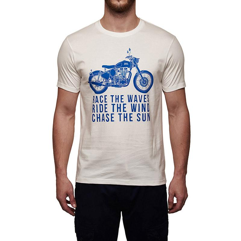 09e541582 Buy Race The Waves T-Shirt (White) Online | Royal Enfield Store