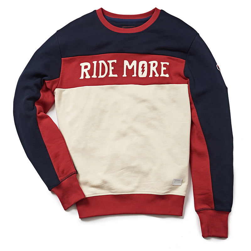 RIDE MORE SWEATSHIRT BLUE WHITE