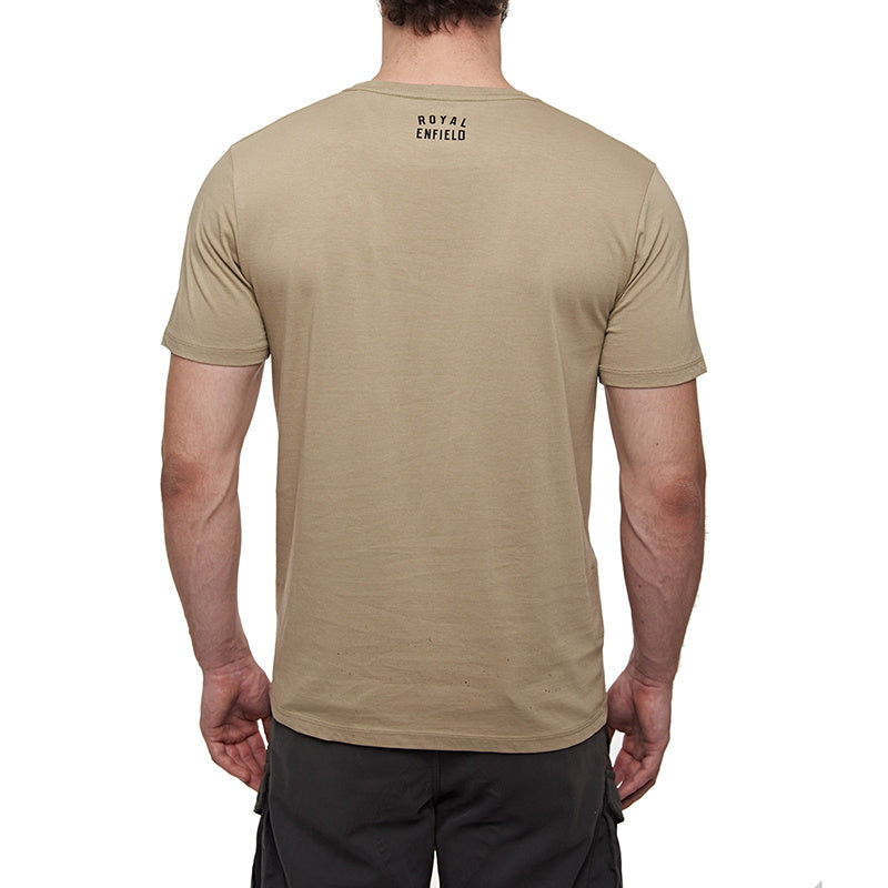 SCRAMBLE T-SHIRT   Beige Brown