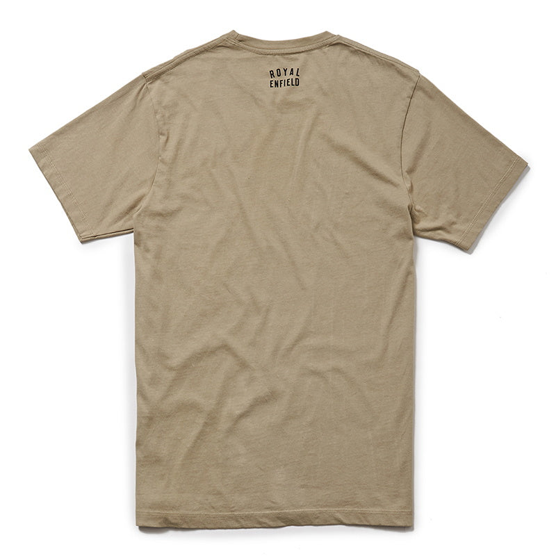 STIPPLED IRON T-SHIRT - Beige Brown