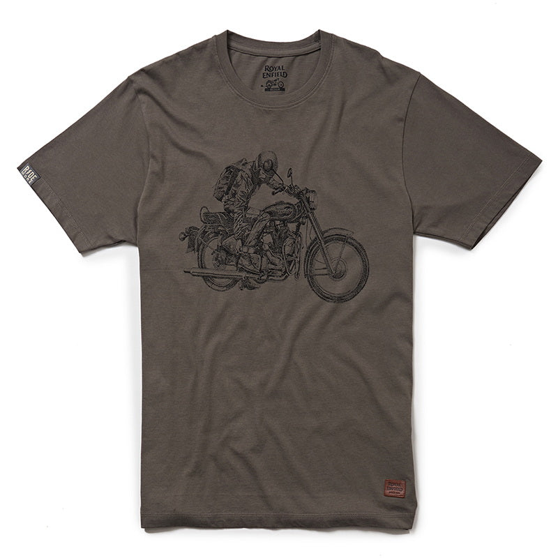 STIPPLED IRON T-SHIRT - Charcoal Grey