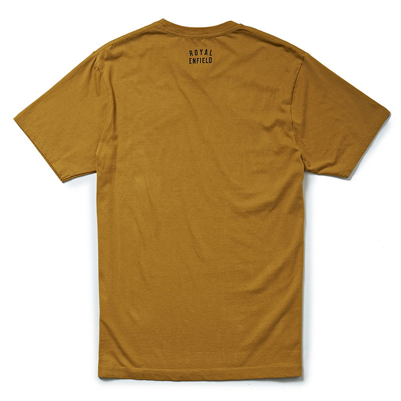 STIPPLED IRON T-SHIRT - Mustard Yellow