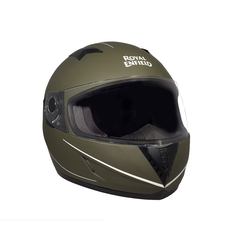 Street Mono Stripe Helmet Battle Green