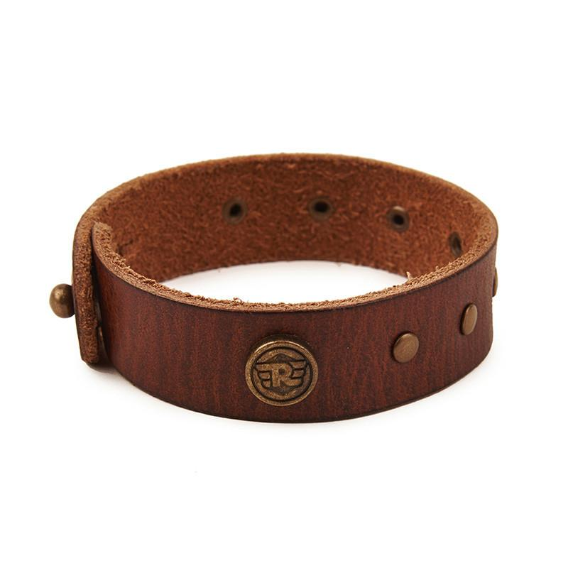 Stud Leather Bracelet Tan