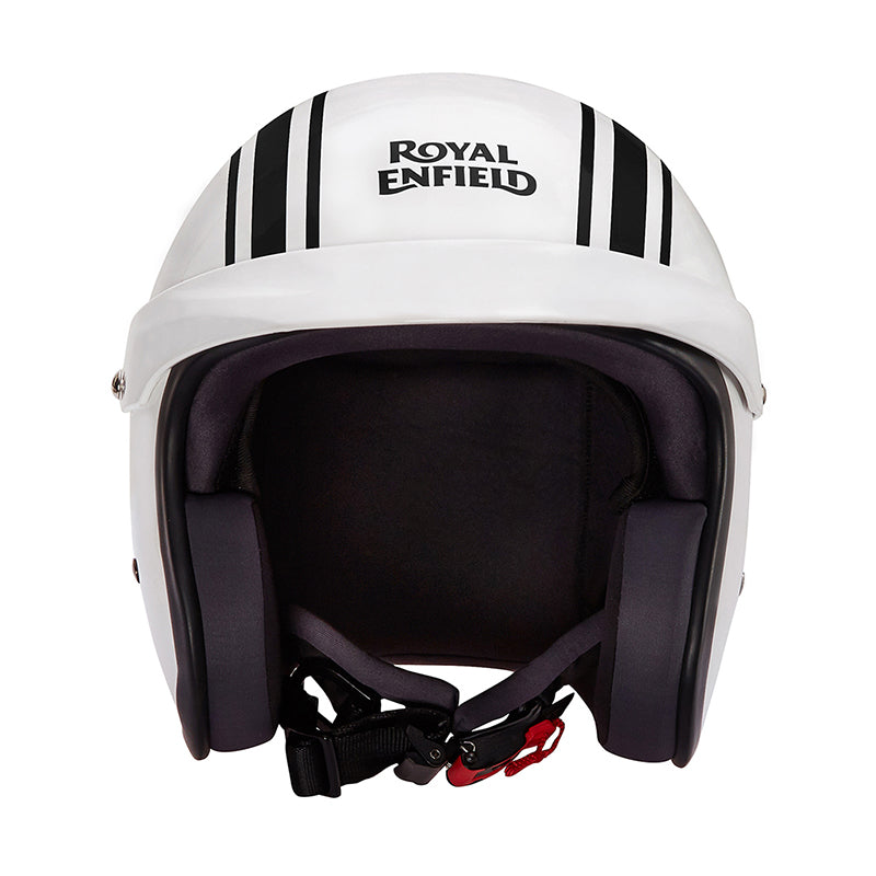 Twin Stripes Sunpeak Helmet Gloss White
