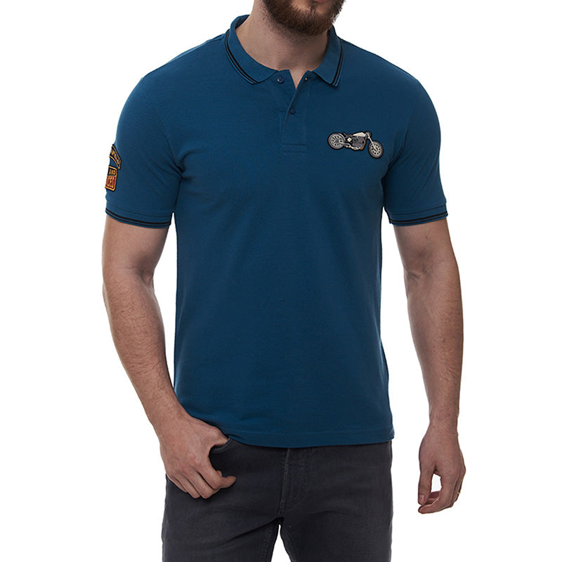 The Whole Gamut Polo T-Shirt Stellar Blue