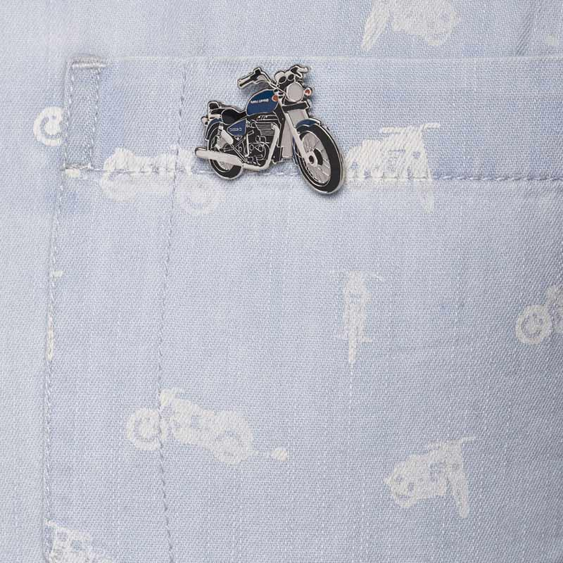 Royal Enfield Thunderbird Lapel Pin Marin Blue