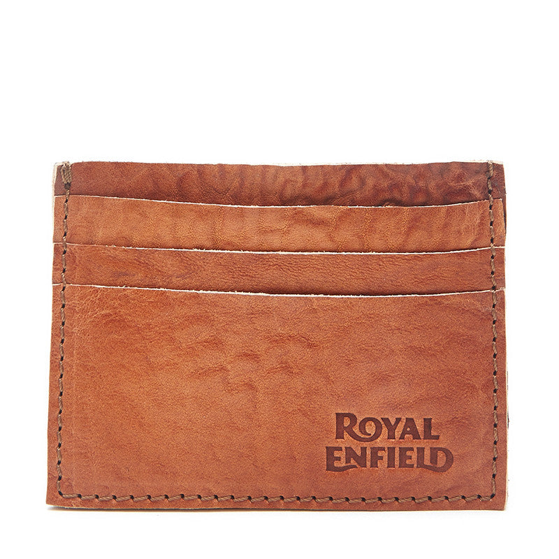 Distressed Leather Card Holder Tan - Royal Enfield