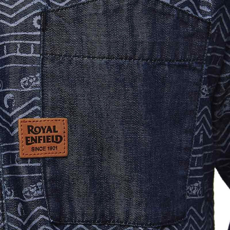 Indigo All Over Print Shirt Indigo - Royal Enfield