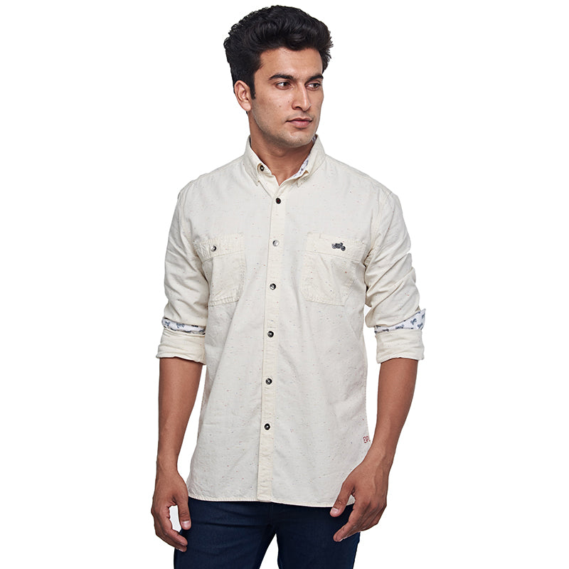 Riding Fleet Shirt Ecru Melange
