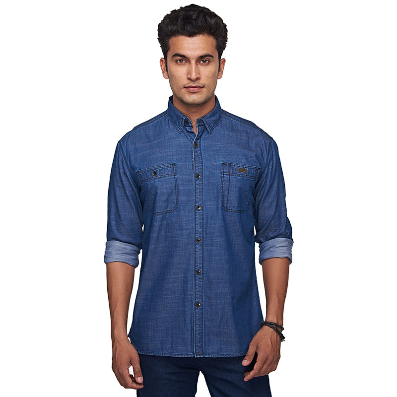 Riding Fleet Shirt Light Indigo