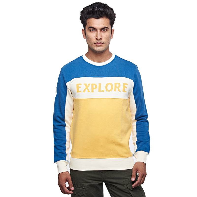 SOUL EXPLORER SWEATSHIRT MID BLUE