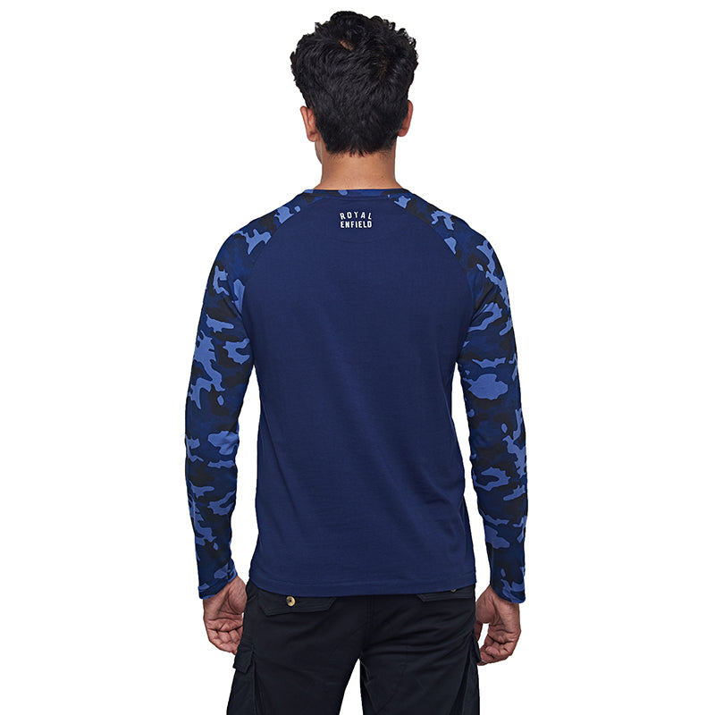 Camo Full T-Shirt Navy