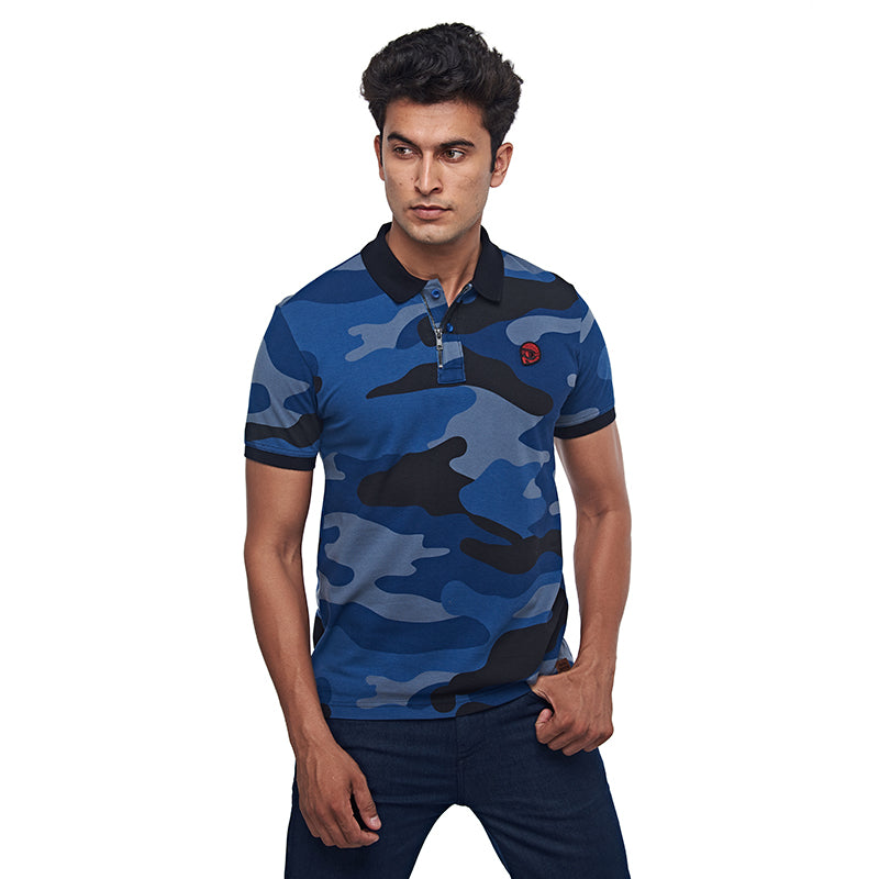 Camo 50 Polo 3.0 Mid Blue
