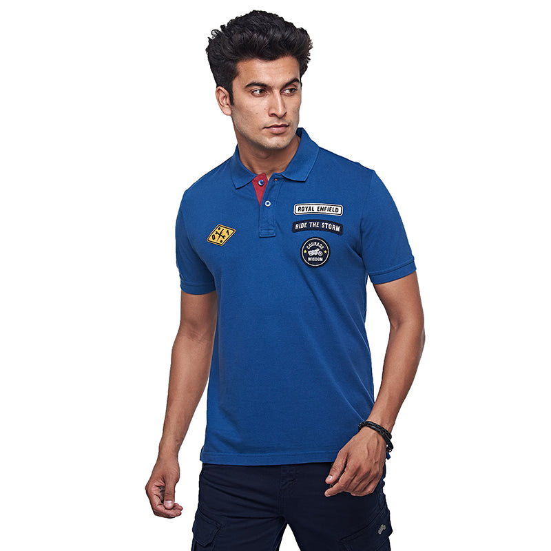 Rider Of The Storm Polo Mid Blue