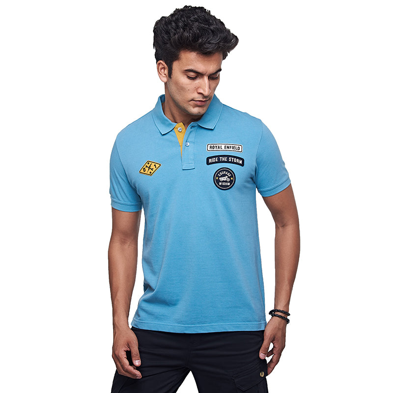 Rider Of The Storm Polo Teal