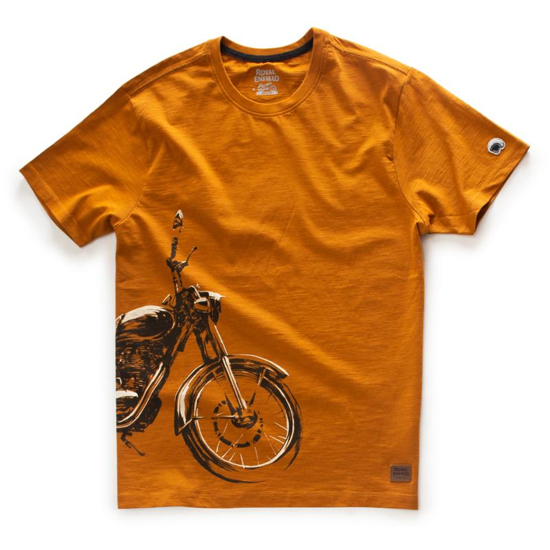 Sketched Classic Crew Golden Brown