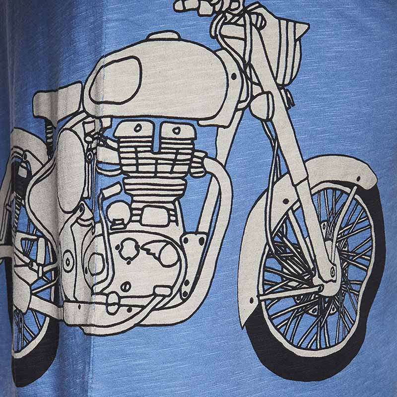Classic Re Entry T-Shirt Blue - Royal Enfield