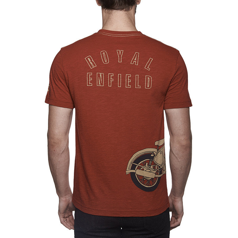 Classic Re Entry T-Shirt Red - Royal Enfield