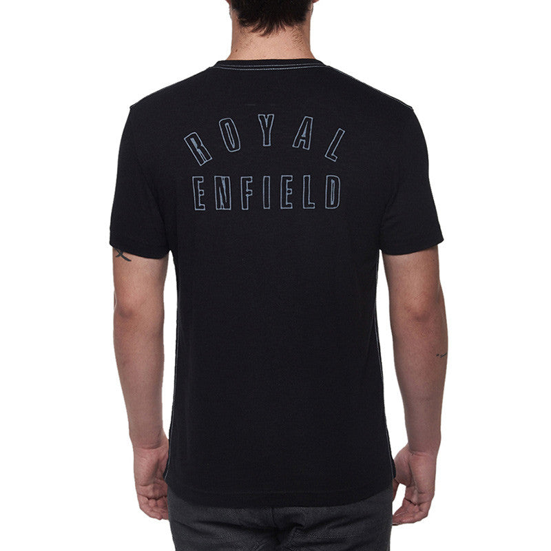 Contrast Re Classic Print Tee Black - Royal Enfield
