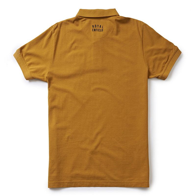 RIDE! POLO T-SHIRT- Mustard Yellow