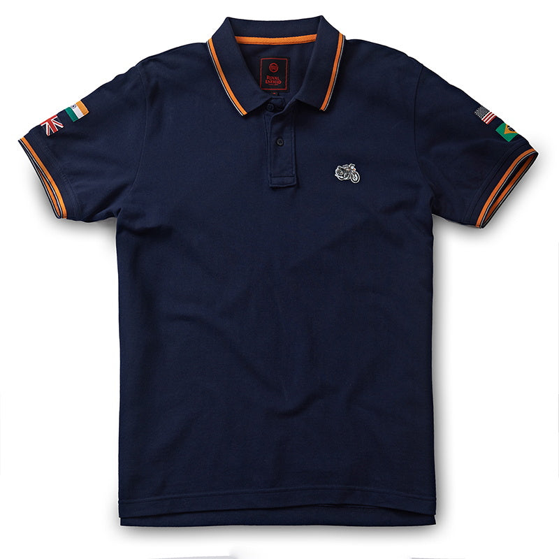 STANDARD POLO T-SHIRT - Navy blue