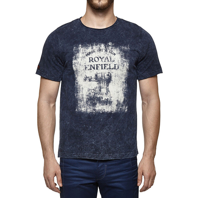 Engine Graphic T-Shirt Blue - Royal Enfield