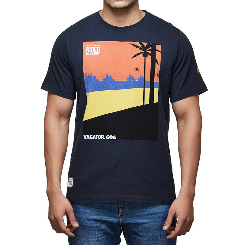 Rider Mania Vagator Road Graphic Tee Navy