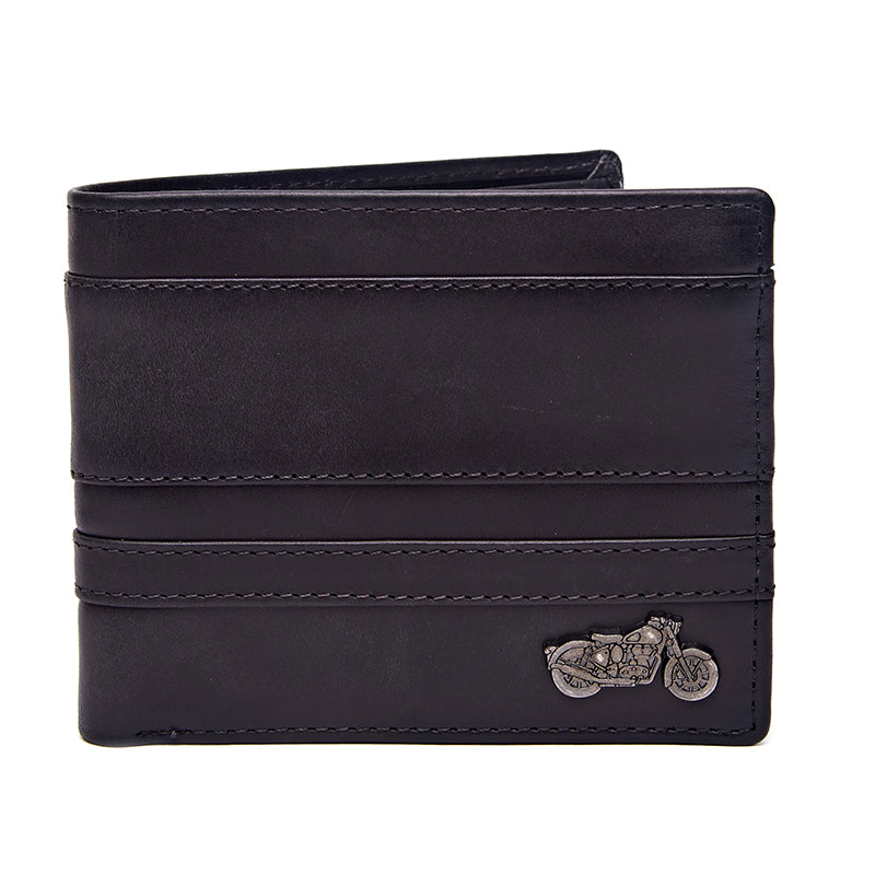 Thick And Thin Stripe Wallet Charcoal