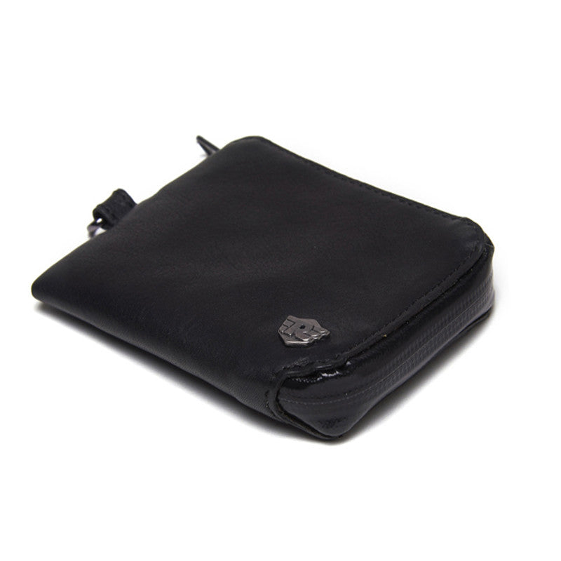 Water Resistant Leather Wallet Black