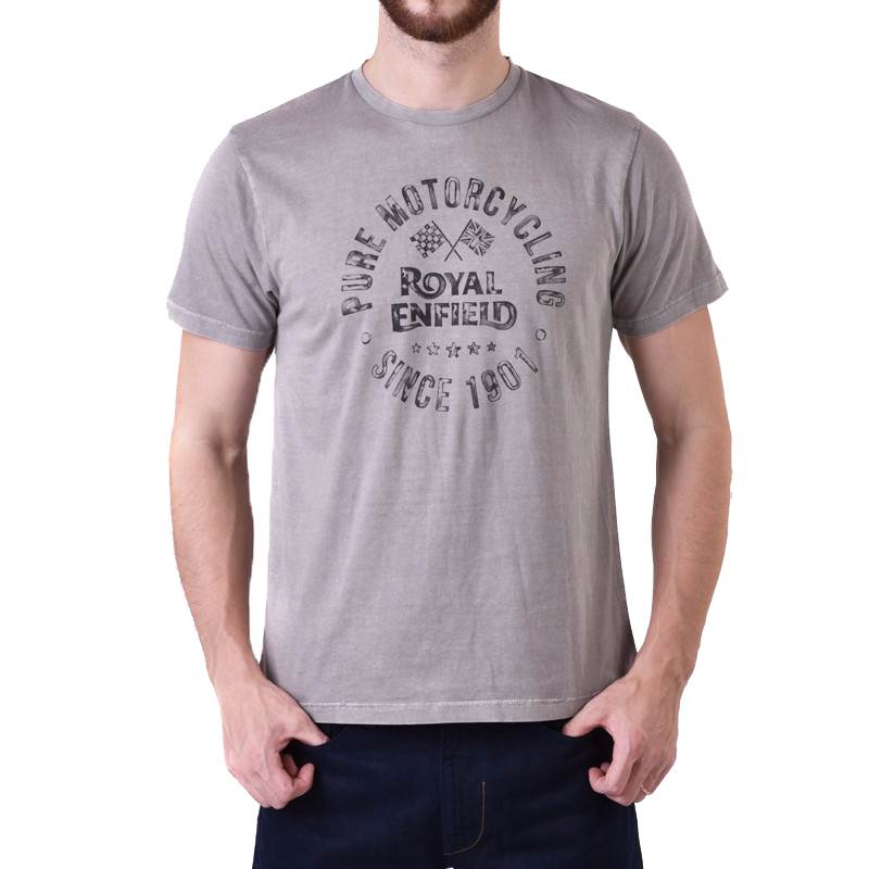 Pure Motorcycling Graphic Tee Grey
