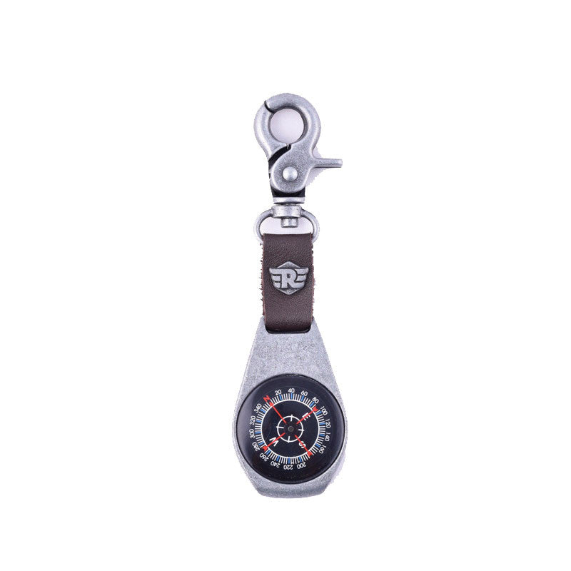 Compass Key Chain Silver - Royal Enfield
