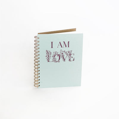 I Am Love Journal - Robin Egg Blue