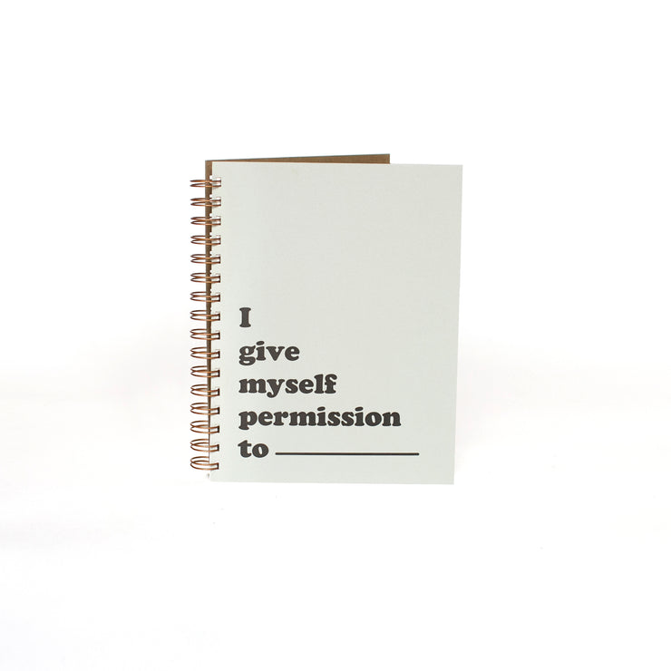 Permission Journal - Grey and Black