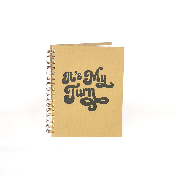 My Turn Journal - Beige and Black