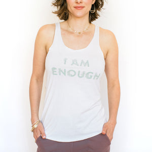 I Am Enough Tank - White