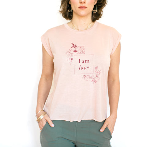 I am Love T-Shirt - Blush