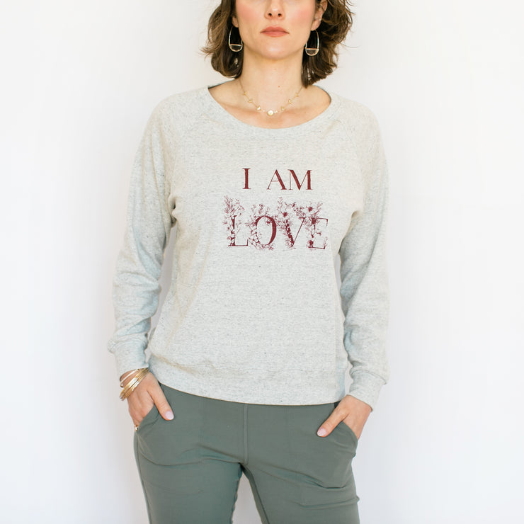 I Am Love Summer Sweater - Ash Grey