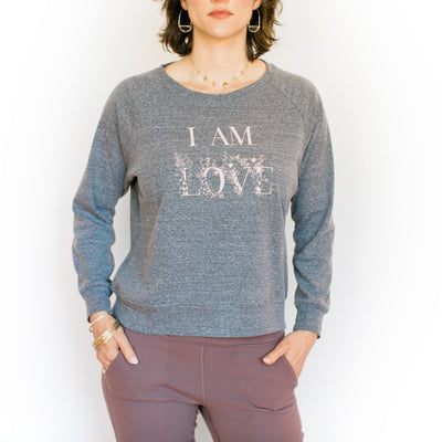 I Am Love Summer Sweater - Dark Heather Grey