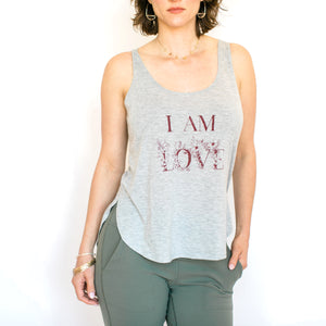 I Am Love Tank- Ash Grey