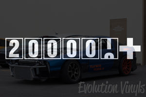 200,000+ Odometer Decal