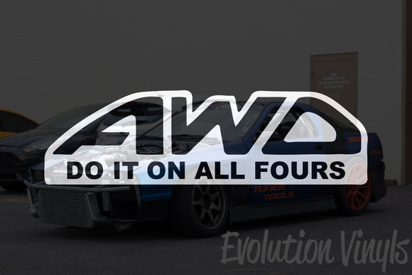 AWD - Do it on all fours Decal